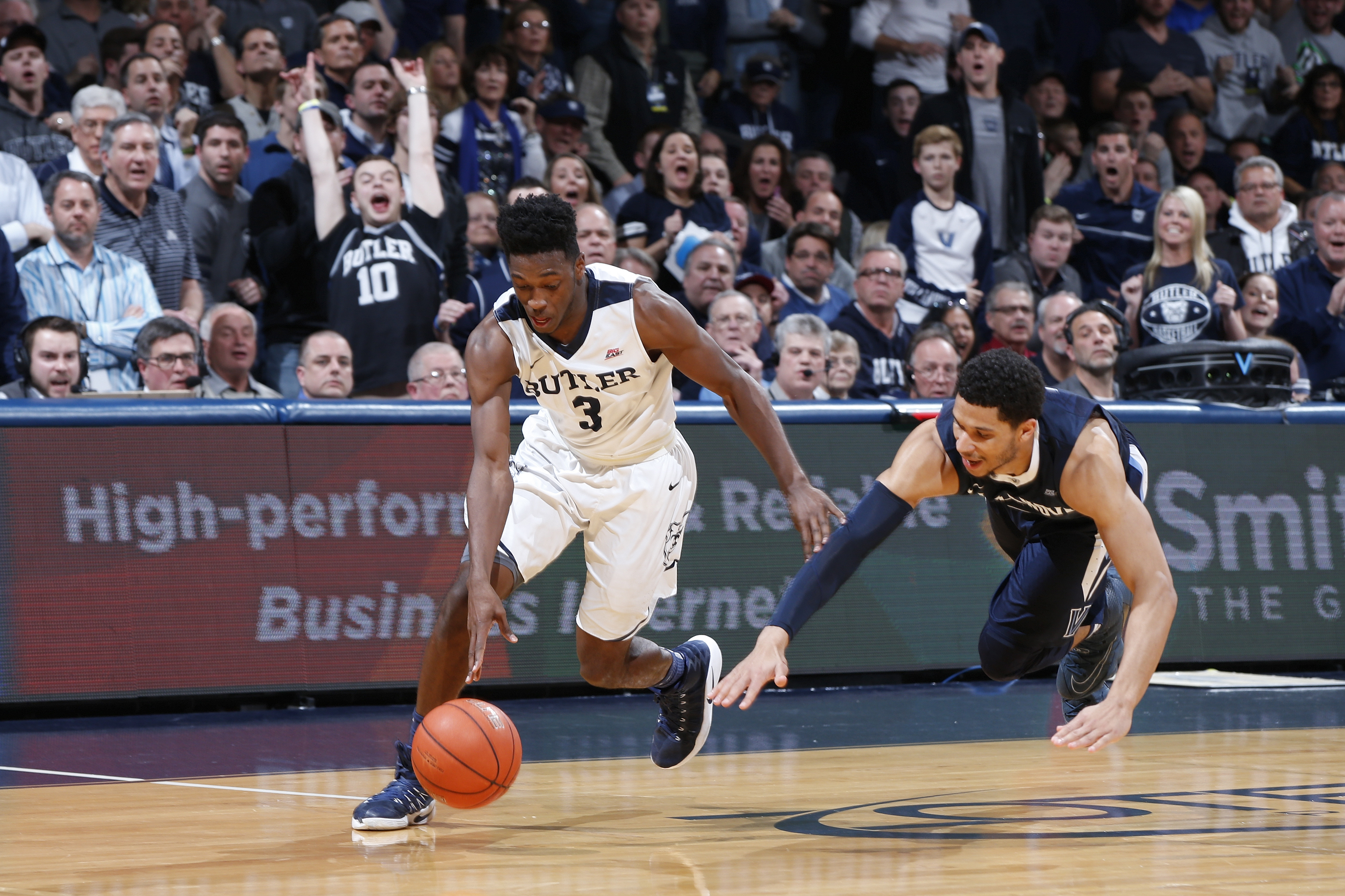 Butler delivers top-ranked Villanova first loss of season